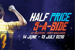 Half price 5-aside-football