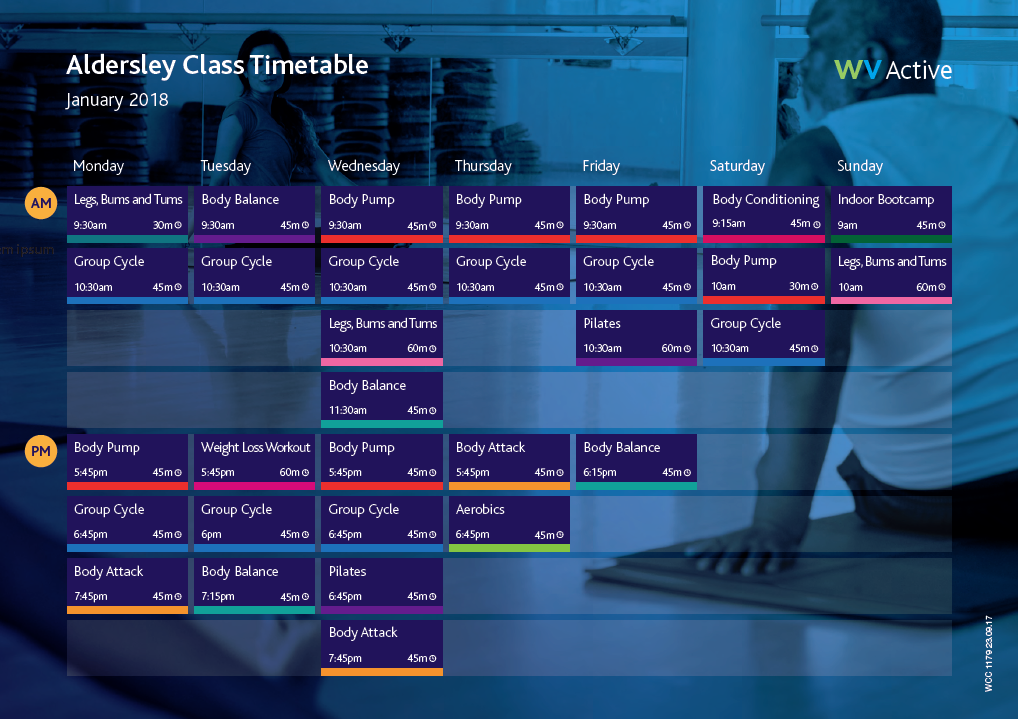 Aldersley New Class Timetable